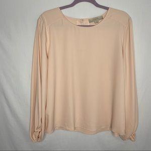 Loft light pink thin blouse M
